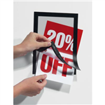 DURABLE MAGAFRAME SIGN HOLDER A5 Black Adhesive Back Pack of 2