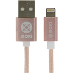 Moki Braided Lightning Cable Rose Gold