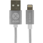Moki Braided Lightning Cable Silver